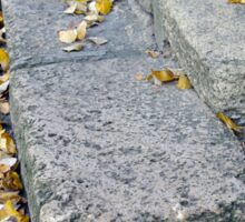 Side view of the steps of the old gray stone blocks Sticker