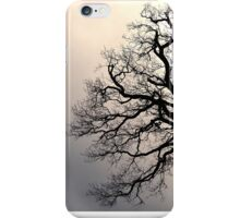 Silhouette of a leafless tree. iPhone Case/Skin