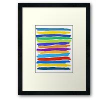 Brush Strokes #1 - Edison Framed Print