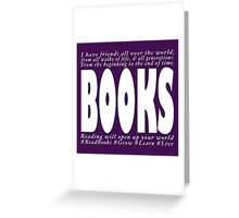 PRO BOOK message Greeting Card