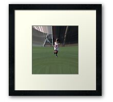 031012 124 0 water color  lacrosse distortion Framed Print