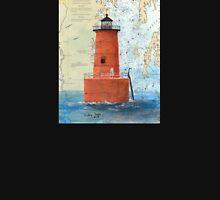 Bloody Pt Bar Lighthouse MD Nautical Chart Peek Unisex T-Shirt