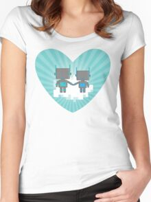 Cloud Robots Women's Fitted Scoop T-Shirt