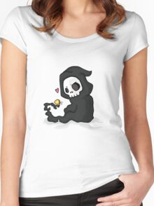 cute death Women's Fitted Scoop T-Shirt