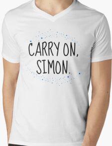 Carry On, Simon (2) Mens V-Neck T-Shirt