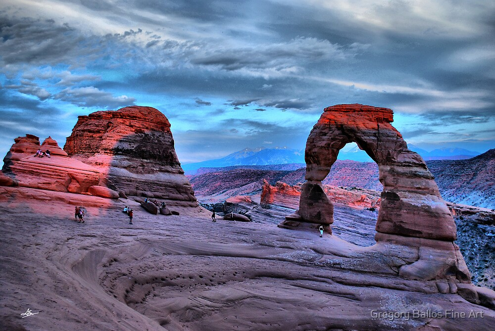 Delicate Arch at Sunset by Gregory Ballos | FineArtScapes.com