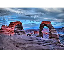 Delicate Arch at Sunset Photographic Print