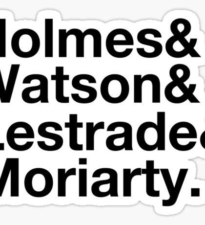 Holmes&Watson&Lestrade&Moriarty Sticker
