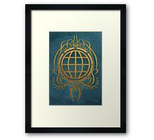 Geographers Crest, style I/ III Framed Print