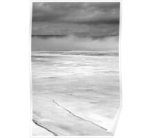 Foggy Morning in Black and White, Ottawa River, Dunrobin Ontario Poster