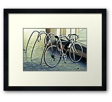 A bicycle race is comin your way.  Framed Print