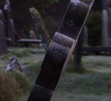 Tilted Gravestone Sticker