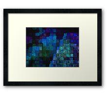 Study in blue Framed Print