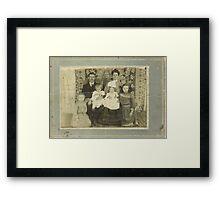 Family Retro Framed Print