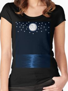 By the Moon Women's Fitted Scoop T-Shirt