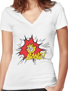 World Party - Bang! Women's Fitted V-Neck T-Shirt