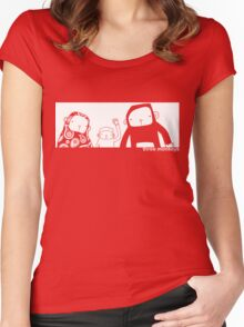 three monkeys Women's Fitted Scoop T-Shirt