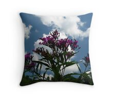 Tall Ironweed Reaching for The Sky Throw Pillow