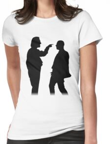 Bottom silhouette - Richie and Eddie Womens Fitted T-Shirt