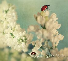 Ladybird on Lilacs by Ellen van Deelen