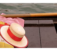Hat and Oar Photographic Print