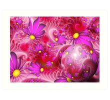 Wallpaper Violet Themed Spring Art Print