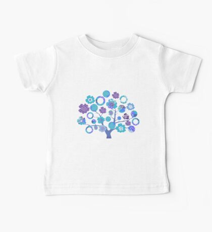 tree of life - blue blossoms Baby Tee