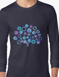 tree of life - blue blossoms Long Sleeve T-Shirt