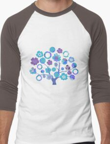 tree of life - blue blossoms Men's Baseball ¾ T-Shirt