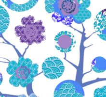 tree of life - blue blossoms Sticker