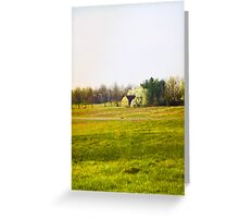 BARN AND PEAR TREES Greeting Card