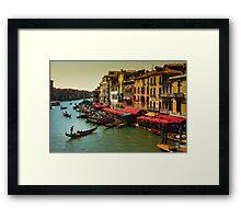 Gondolas on the Canal of Venice, Italy Framed Print