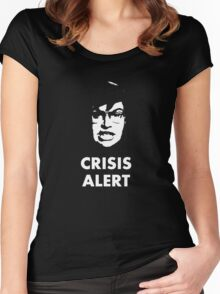 Garret Crisis Alert  Women's Fitted Scoop T-Shirt