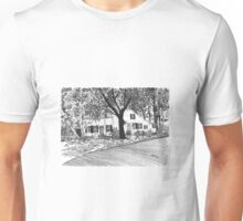 White House with Trees Unisex T-Shirt