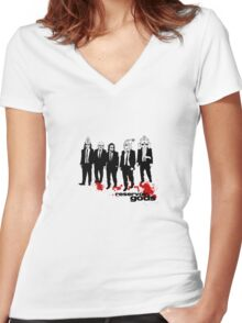 reservoir gods Women's Fitted V-Neck T-Shirt