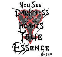 Kingdom Hearts: Ansem Quote  Photographic Print