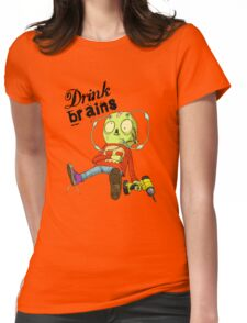 Drink Brains Womens Fitted T-Shirt