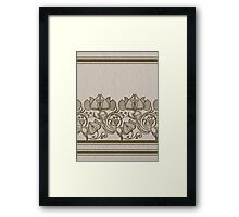 russian ethnic flowers pattern sepia Framed Print