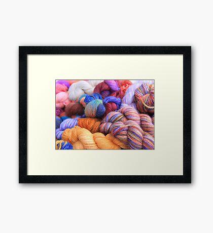 Alpaca Yarn Framed Print