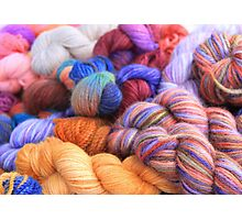 Alpaca Yarn Photographic Print