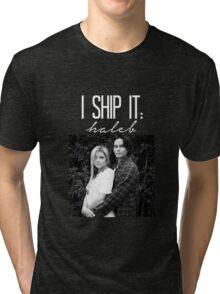 I Ship It; Haleb-- White Tri-blend T-Shirt