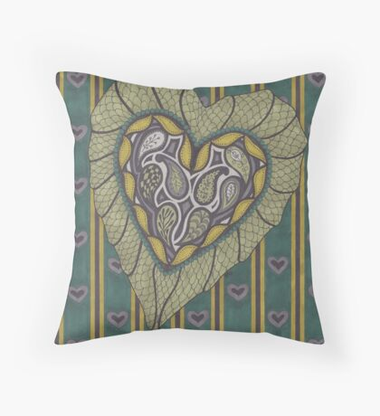 Dragon's Moon Throw Pillow