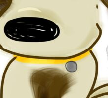 Dog loves you  Sticker