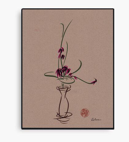Life  -  Sumi e  Ikebana Zen drawing Canvas Print