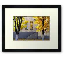 Urban autumn scene Framed Print