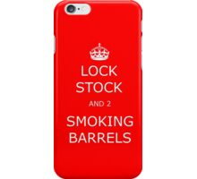Lock stock iPhone Case/Skin