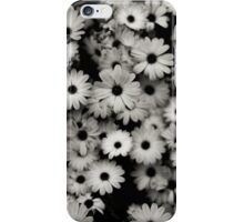 Black and White Flowers iPhone Case/Skin