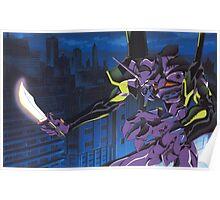 Neon Genesis Evangelion - Unit-01 Knife (Cleaned) Poster