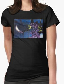 Neon Genesis Evangelion - Unit-01 Knife (Cleaned) Womens Fitted T-Shirt
