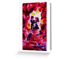 In Love, watercolor Greeting Card